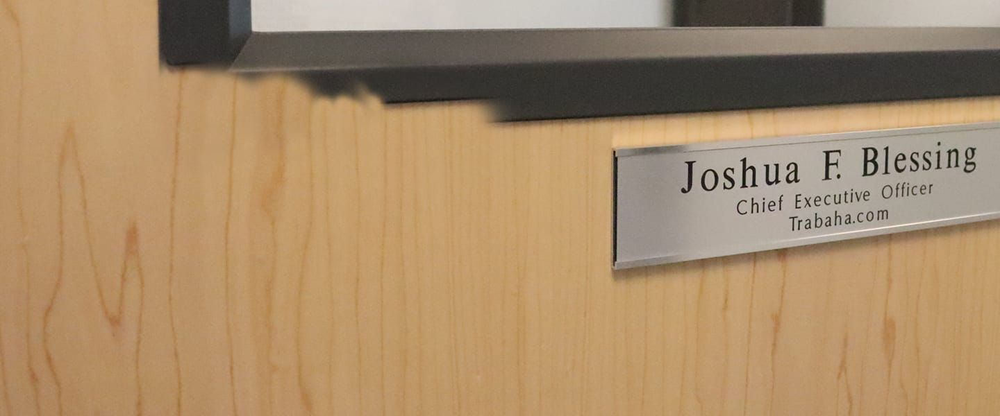 Text Only Name Plates