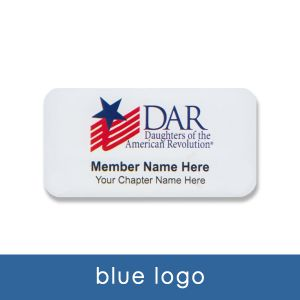 DAR name tag with Blue logo