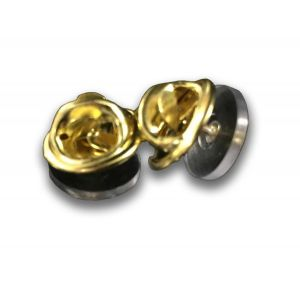 Replacement metal butterfly clasps with brass finish for military pin fasteners
