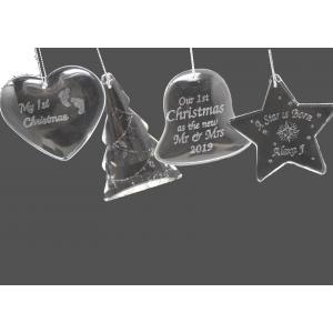 Personalized Crystal Tree Ornaments