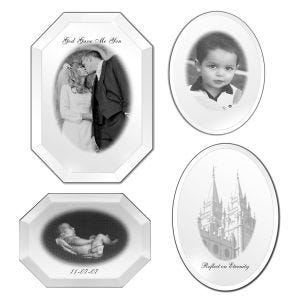 Personalized Decorative Engraved Mirrors - 3 Styles and Sizes