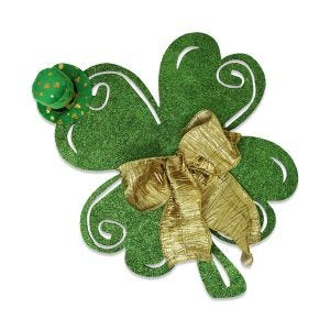 Completed four leaf clover example of DIY project for St. Patrick's Day decorations