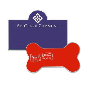 custom shaped engraved name tag assortment in various colors and shapes