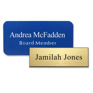 Standard Name Tags with Engraved Text