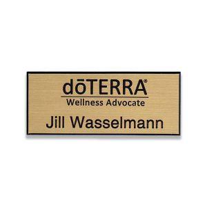 doTERRA Wellness Advocate gold name tag