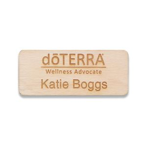 doTERRA standard wooden name tags
