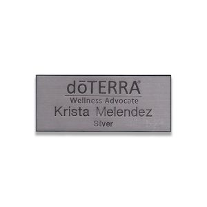 doTERRA Wellness Advocate name tag with Gold or Silver designation