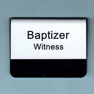 LDS Temple Baptizer Witness Name Tags - Pocket