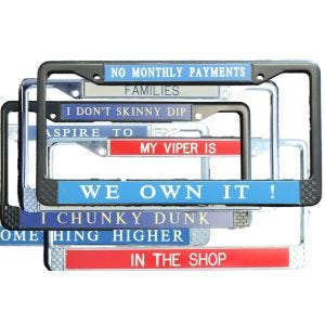Standard Personalized License Plate Frames
