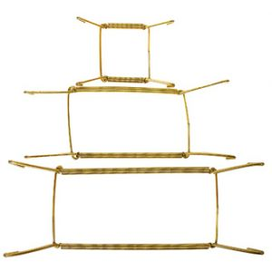 Gold Spring-Loaded Wall Hangers for Decorative Mirrors in 3 Sizes