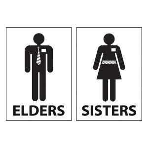 LDS Missionary Creative Restroom Signs