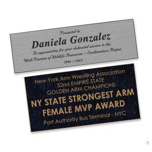Odd-Sized Engraved Name Plates - Up to 6 Lines of Text