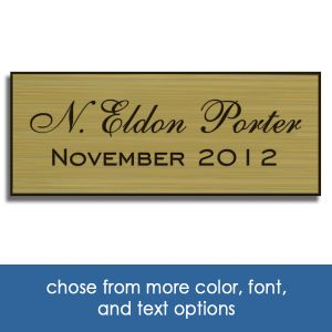 Laser engraved custom plastic perpetual plaque inserts with engraved text