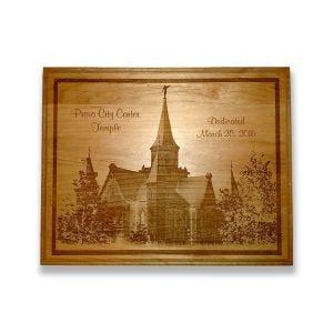 Laser engraved Provo City Center Temple plaque.