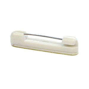 Plastic bar pin with adhesive pad