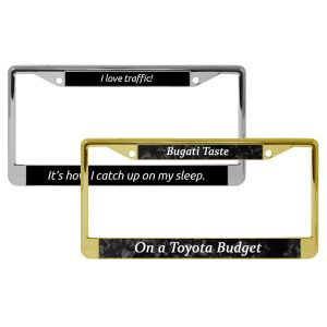 Standard Customized License Plate Frames