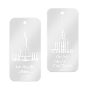 Customized LDS Temple Key Rings