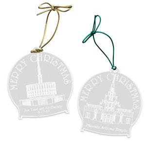 Personalized Clear Acrylic LDS Temple Ornaments