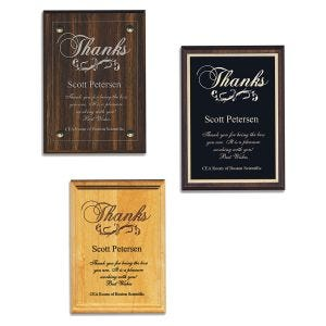Thank You Plaques