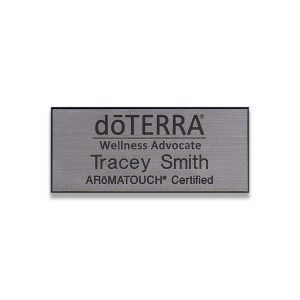 doTerra gold AROMATOUCH Certified silver name tag