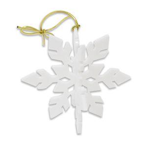 White Acrylic 3D Snowflake Ornament