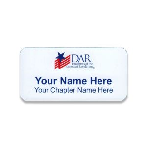 DAR Daughters Of The American Revolution Chapter Name Tags 2017