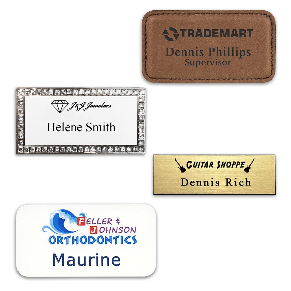 Logo & Text Name Tags