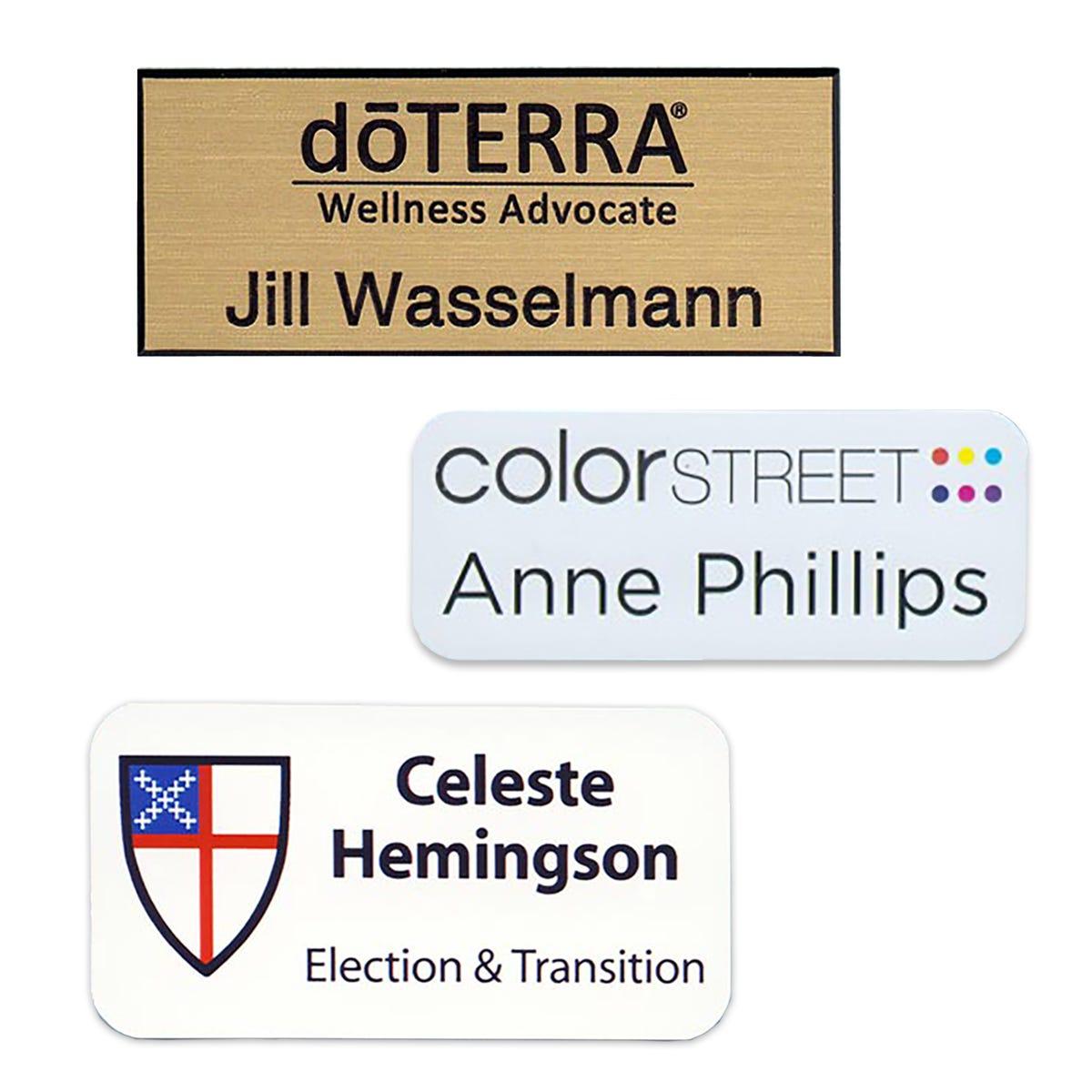 Pre-Logoed Name Tags